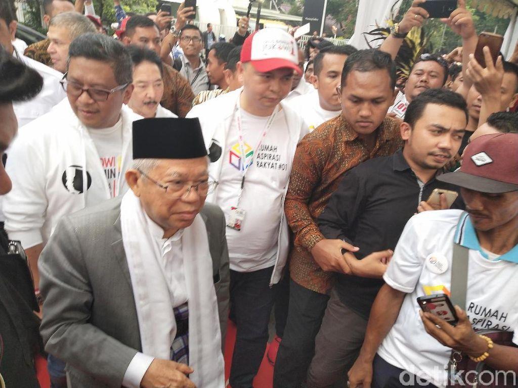 Maruf Amin Bicara Al-Makiyun, Sandiaga ke Makam Kakek di Gorontalo