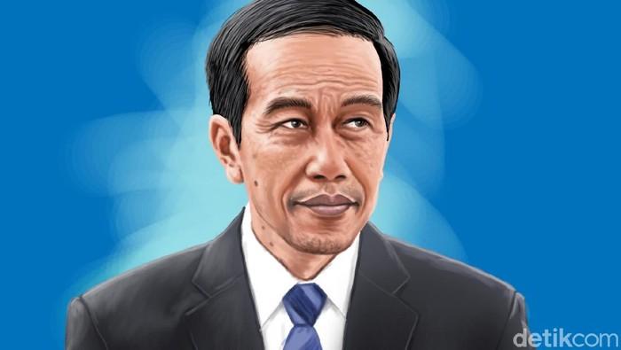 close up profil Jokowi