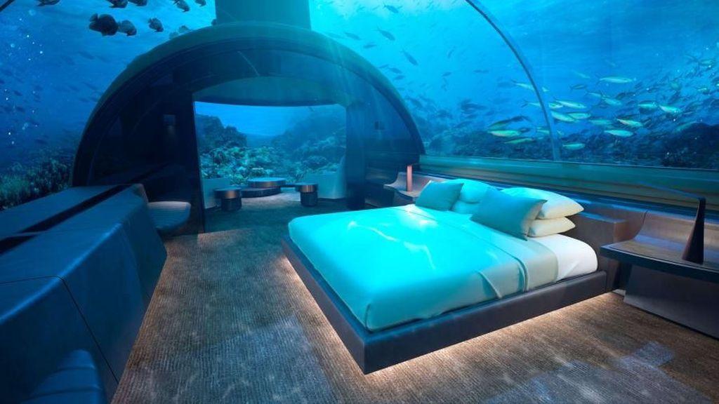 Foto: Mewahnya Hotel Bawah Laut Pertama di Dunia