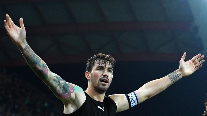 Pemain AC Milan, Alessio Romagnoli. (Foto: Alessandro Sabattini/Getty Images)