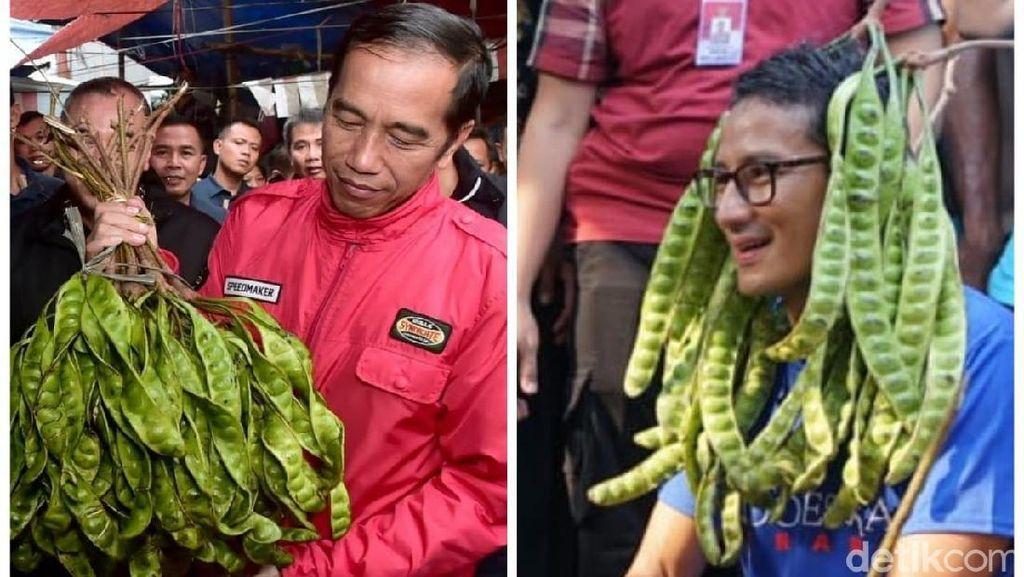 Adu Gaya Jokowi vs Sandiaga Blusukan ke Pasar
