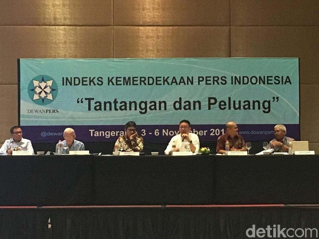 Dewan Pers: Kebebasan Pers di Indonesia Masuk Kategori Sedang