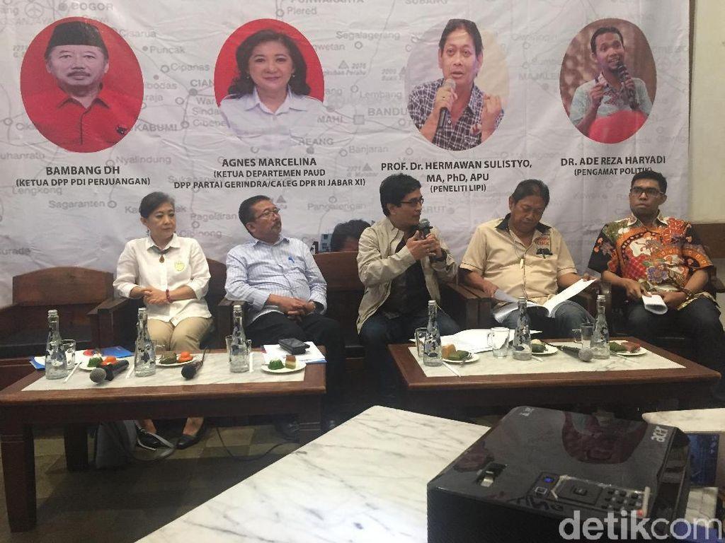 Survei Indopolling di Jabar: Jokowi-Maruf 27,0%, Prabowo-Sandi 21,4%