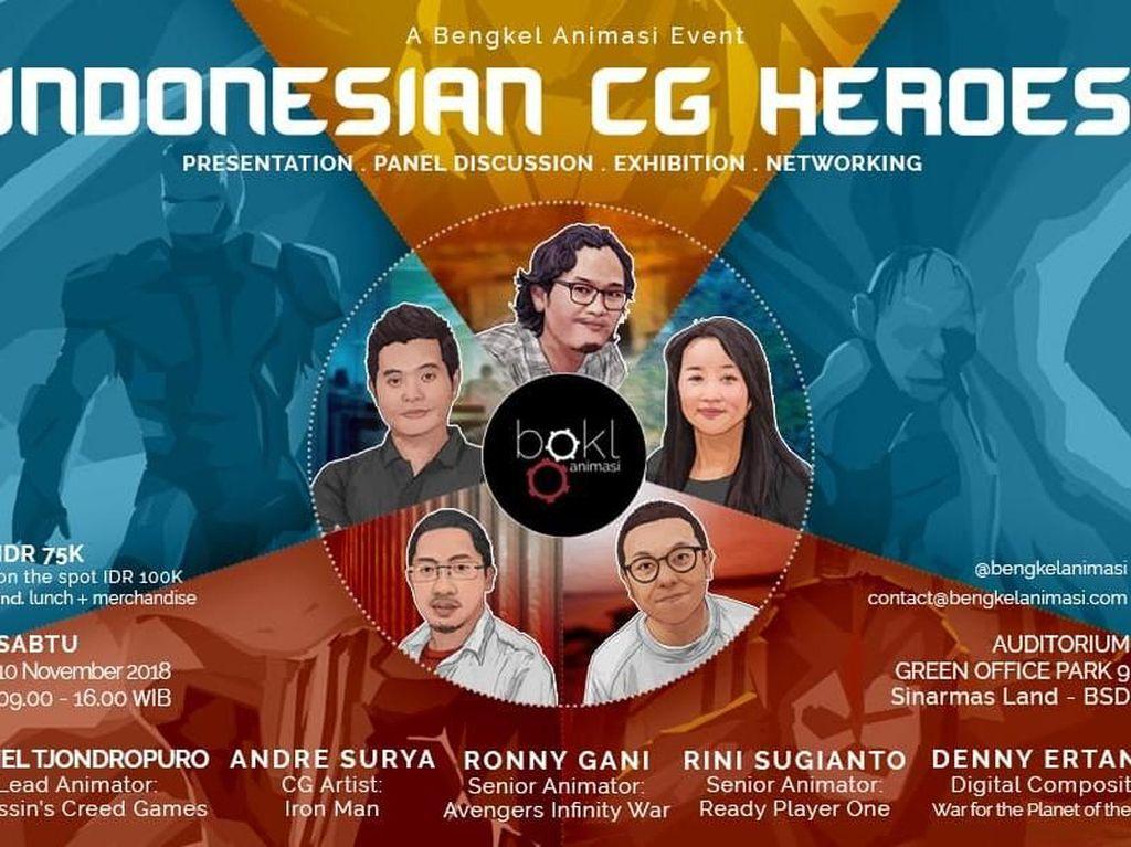 Yuk Belajar dari Animator dan CG Artist Dunia di Indonesian CG Heroes