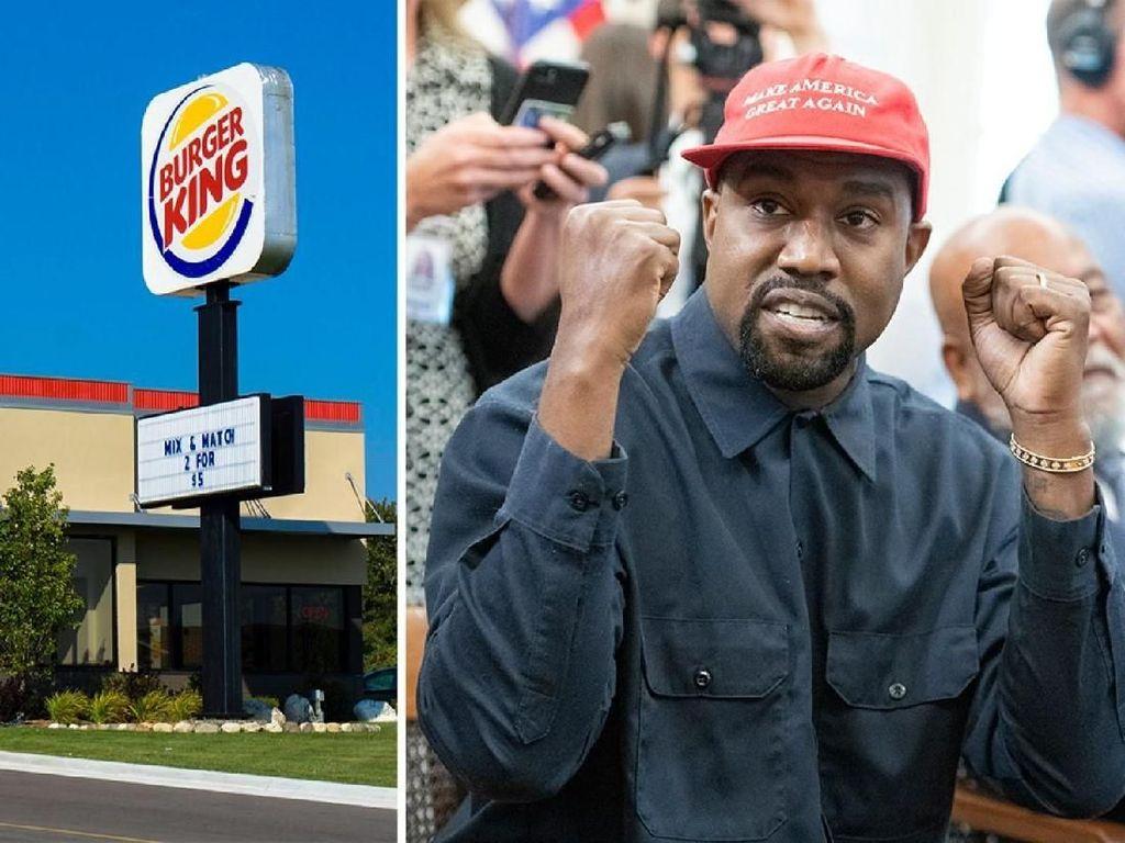 Akun Twitter Burger King Sindir Kanye West yang Ngaku Lebih Doyan McDonalds