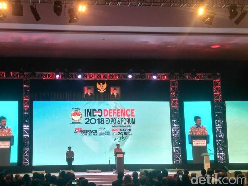 JK Buka Pameran Industri Pertahanan di Kemayoran