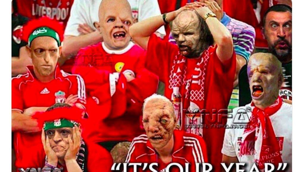 Meme-Meme Liverpool yang Dipecundangi Red Star