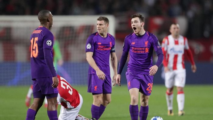 Liverpool kalah 0-2 di markas Red Star Belgrade. (Foto: Marko Djurica/REUTERS)