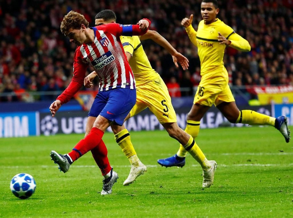Hasil Liga Champions: Atletico Taklukkan Dortmund 2-0