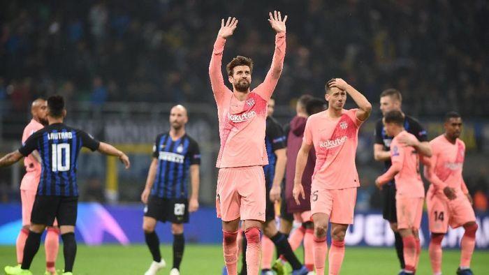 Barcelona jadi tim pertama yang lolos ke babak 16 besar Liga Champions. (Foto: Daniele Mascolo/REUTERS)