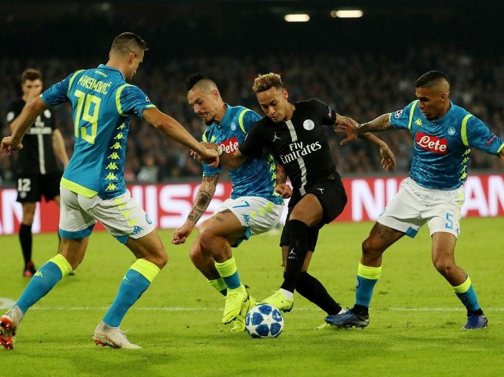 Hasil Liga Champions: Napoli Vs PSG Berakhir 1-1