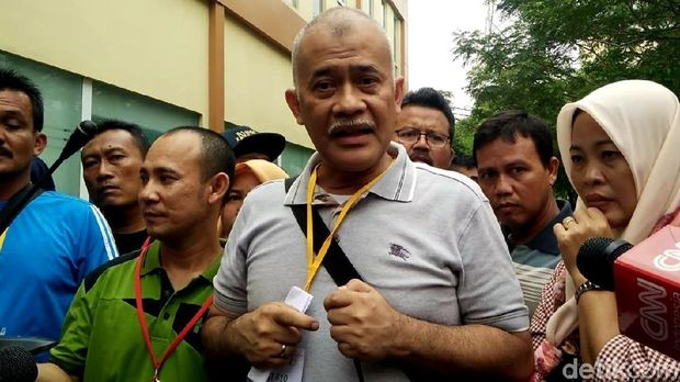 perwakilan keluarga korban, Dodi Widodo di RS Polri, Kramat Jati, Jakarta Timur, Rabu (7/11/2018).