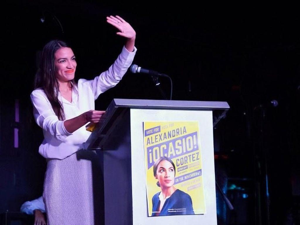 Baru 29 Tahun, Ocasio-Cortez Jadi Wanita Termuda di Kongres AS