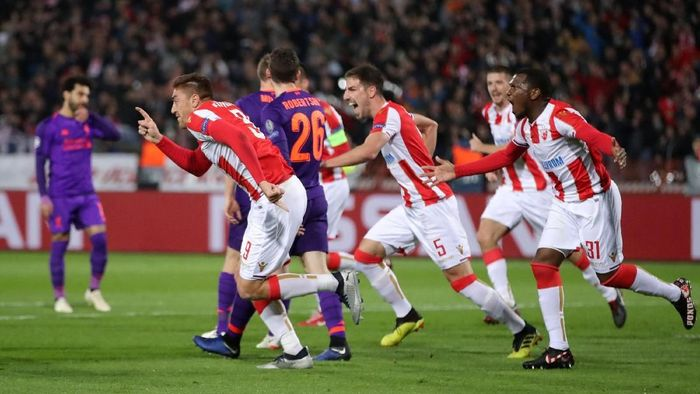 Red Star Belgrade menang 2-0 atas Liverpool (Marko Djurica/REUTERS)