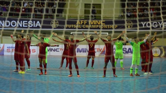 Timnas Futsal Indonesia merebut tempat ketiga di Piala AFF Futsal 2018 usai mengalahkan Vietnam 3-1. (Foto: dok futsal indonesia)