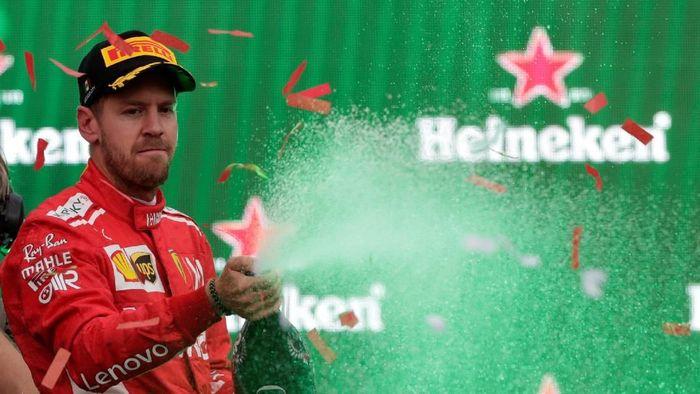 Sebastian Vettel masih yakin bersaing jadi juara dunia F1 di 2019 (REUTERS/Henry Romero)