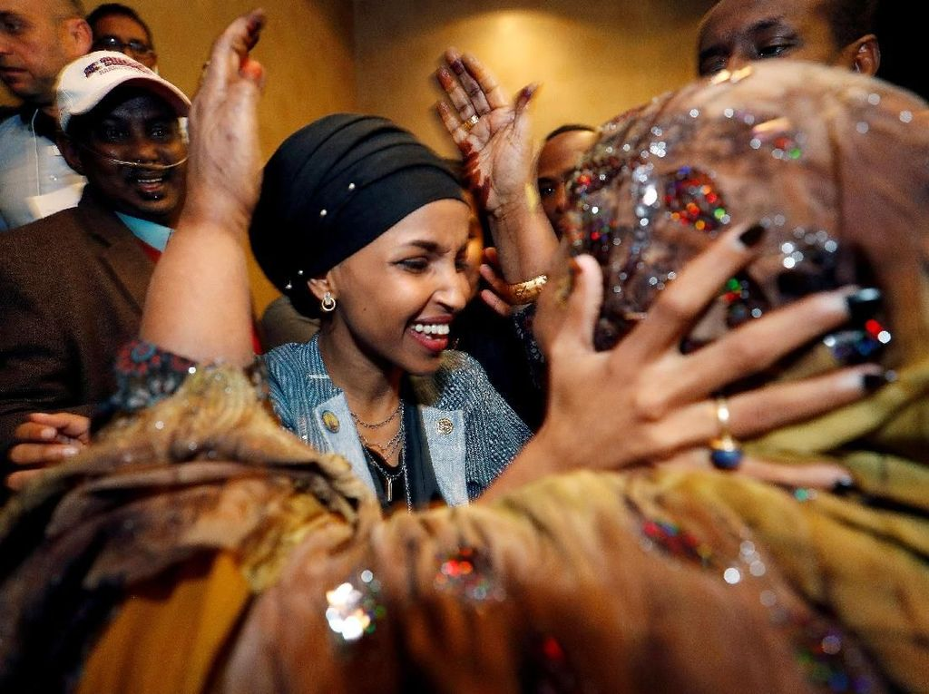 Ini Rashida dan Ilhan Omar, 2 Muslimah Pertama di Kongres AS