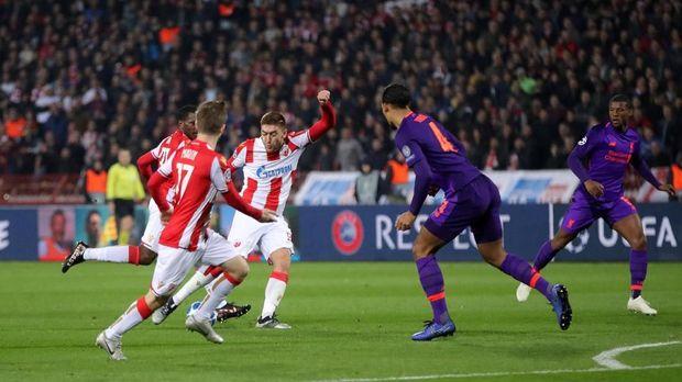 Hasil Liga Champions: Liverpool Tumbang di Kandang Red Star