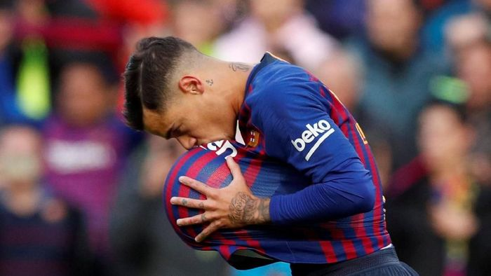 Philippe Coutinho absen tiga pekan karena cedera hamstring (Albert Gea/REUTERS)
