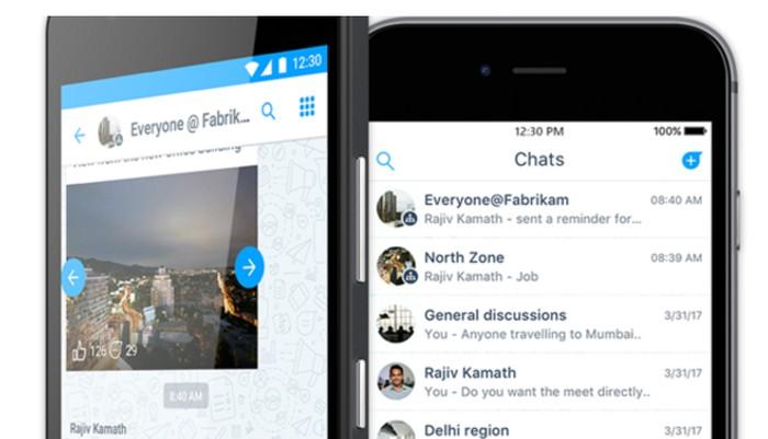 Microsoft meluncurkan Kaizala yang disebut-sebut sebagai kloningan WhatsApp karena kemiripannya (Foto: Microsoft)