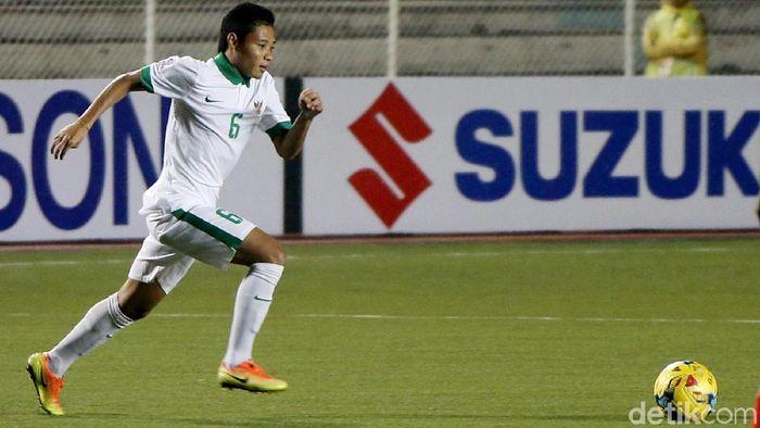 Pemain Timnas Indonesia, Evan Dimas Darmono. (Foto: Rachman Haryanto/detikcom)