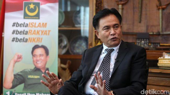 Tonton Blak blakan Yusril Ihza, Dulu Prabowo Kini Jokowi