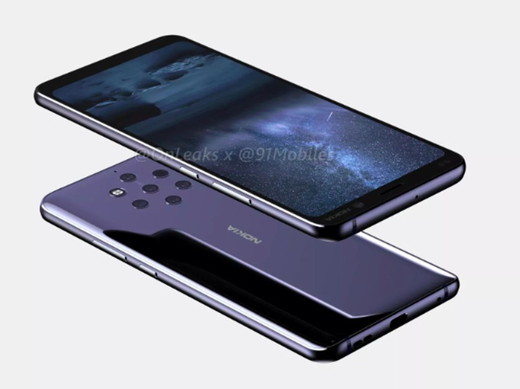 Penampakan Nokia 9 Pureview Pakai 5 Kamera Belakang