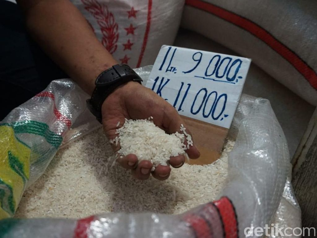 Terpantau Tinggi, Harga Beras di Pasar Gondangdia Capai Rp 11.000/kg