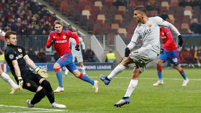 AS Roma menang 2-1 di markas CSKA Moskow dalam lanjutan Liga Champions (Foto: Sergei Karpukhin/Reuters)