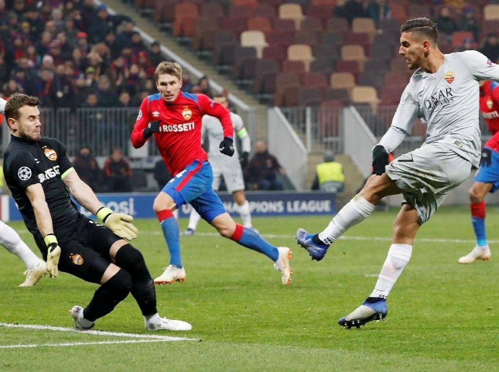 Hasil Liga Champions: Roma Menang 2-1 di Kandang CSKA