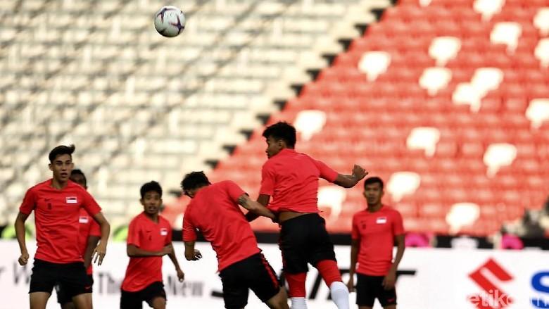 Mengintip Sesi Latihan Timnas Singapura Jelang Hadapi Indonesia