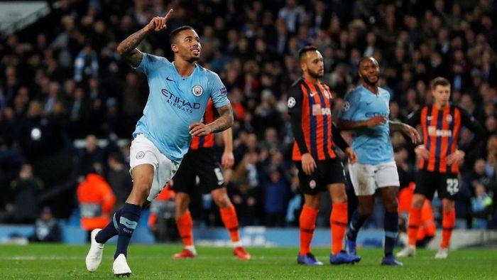 Manchester City menang telak 6-0 atas Shakhtar Donetsk dalam lanjutan Liga Champions (Foto: Lee Smith/Action Images via Reuters)