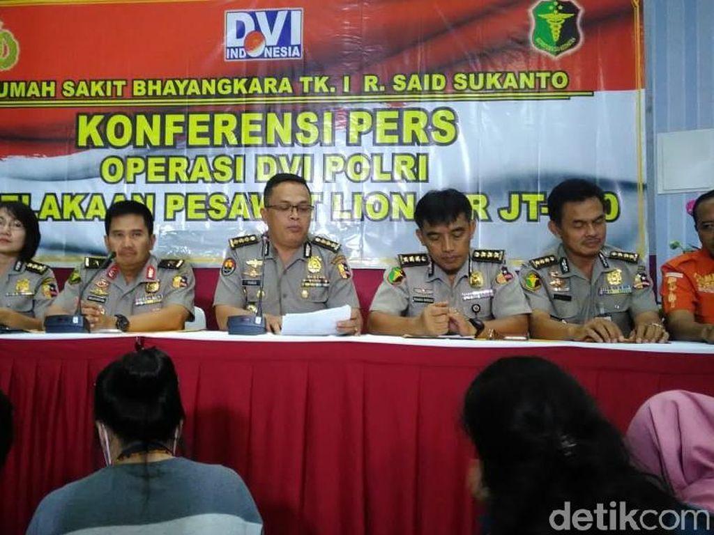 20 Jenazah Korban Lion Air Kembali Teridentifikasi, Ini Identitasnya