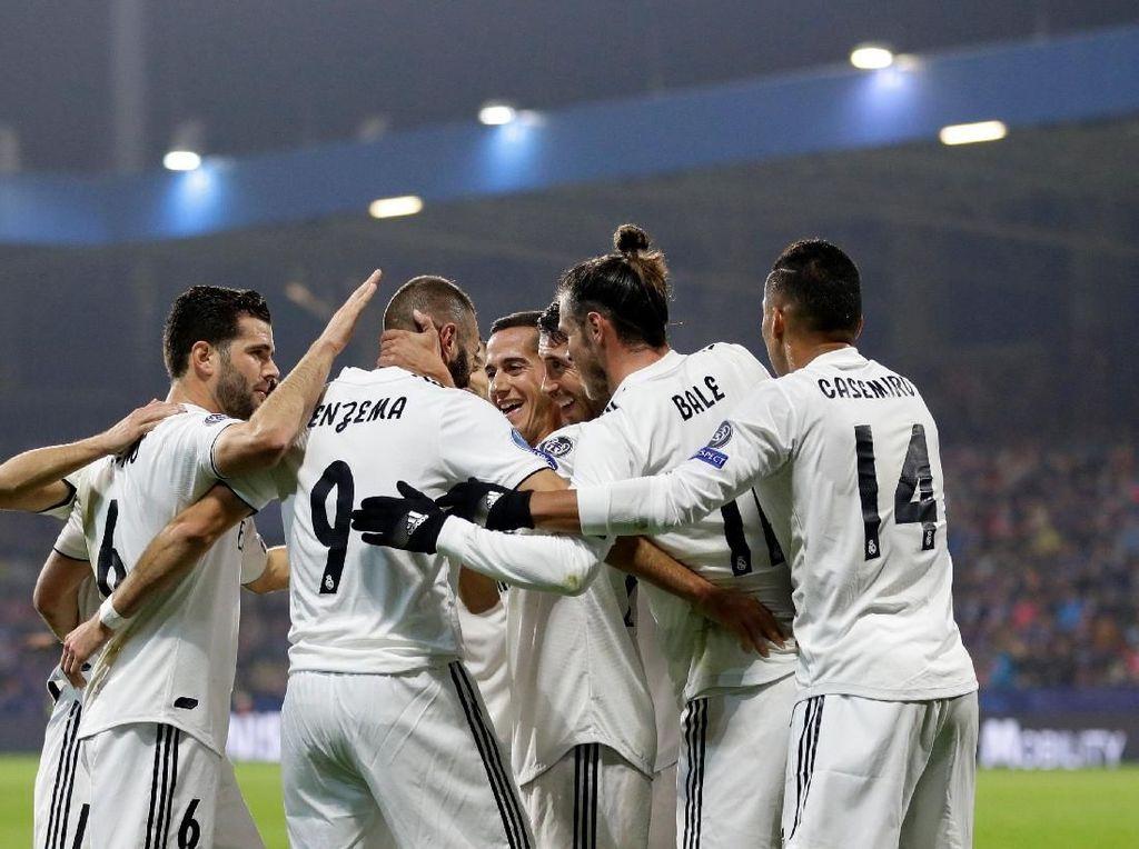 Hasil Liga Champions: Real Madrid Cukur Viktoria Plzen 5-0