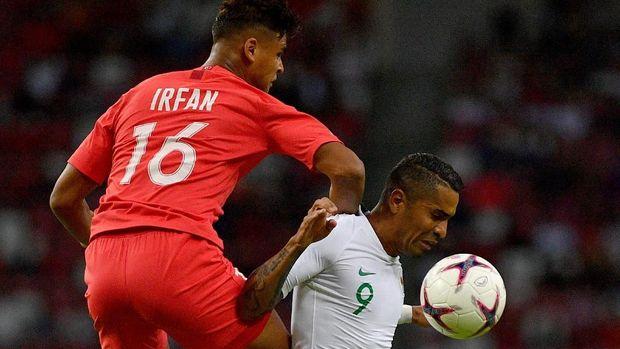 Timnas Indonesia kalah 0-1 dari Singapura.