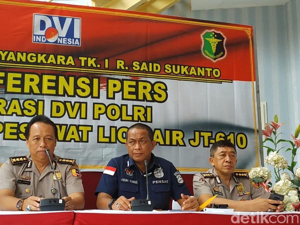 DVI Polri Pastikan Identifikasi Korban Lion Air Tak Ada Batas Waktu