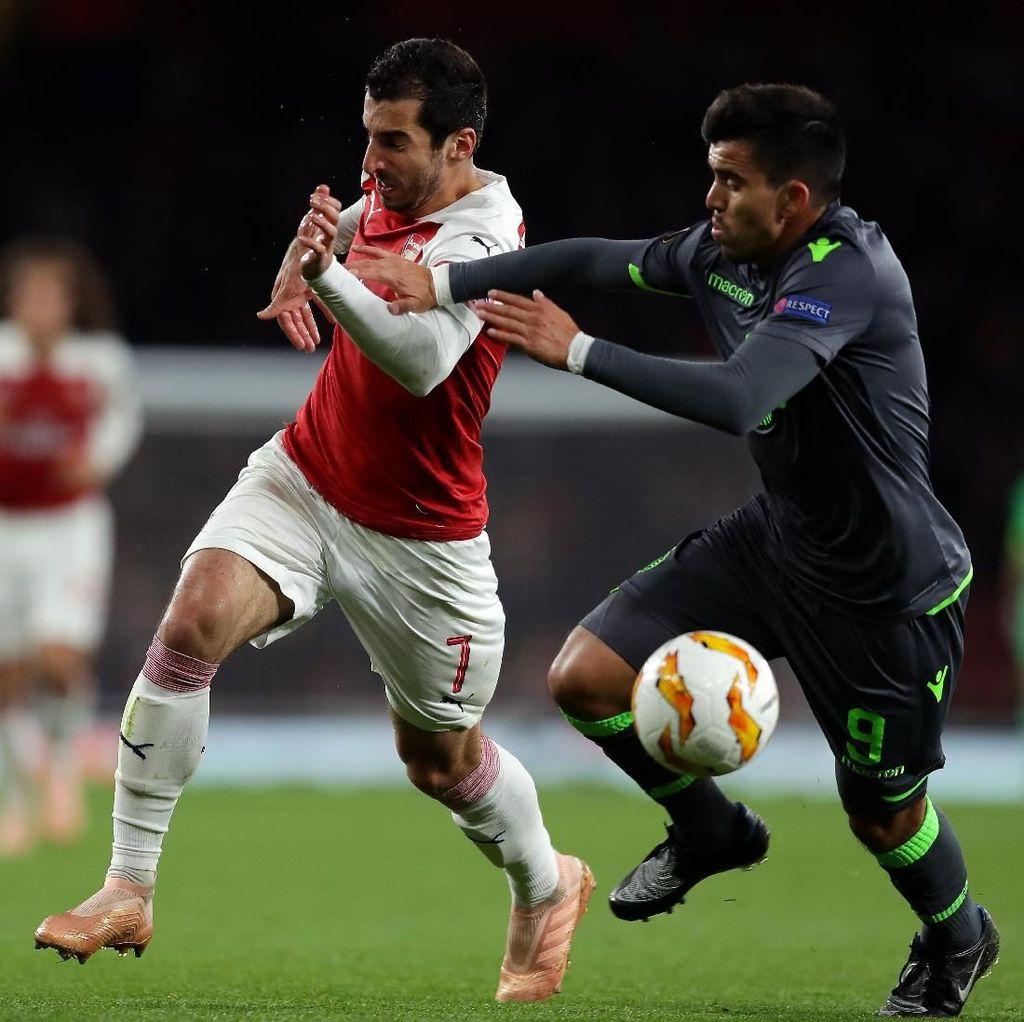 Hasil Liga Europa: Imbang dengan Sporting, Arsenal Lolos ke 32 Besar