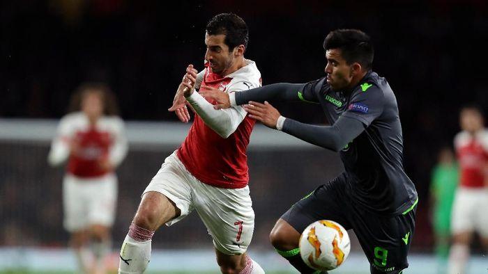Arsenal lolos usai berimbang 0-0 dengan Sporting. (Foto: Richard Heathcote/Getty Images)