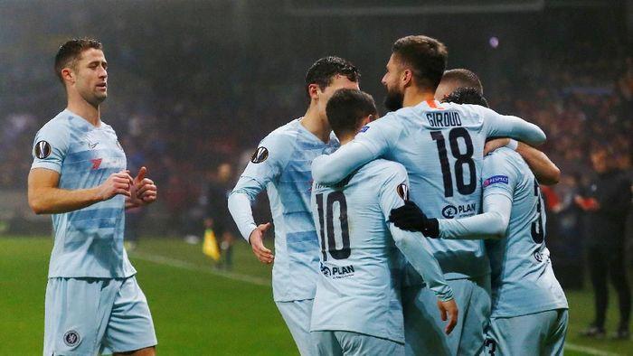 Chelsea menang atas BATE dan lolos ke babak 32 besr Liga Europa (Vasily Fedosenko/Reuters)