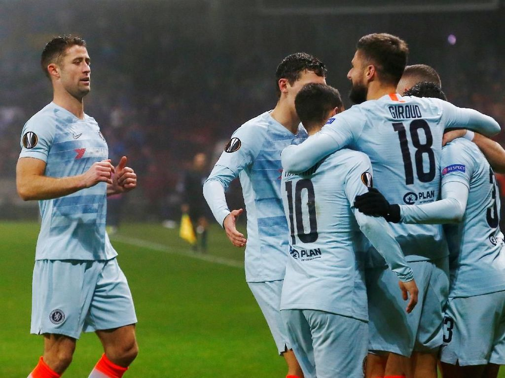 Hasil Liga Europa: Kalahkan BATE, Chelsea Tembus Babak 32 Besar