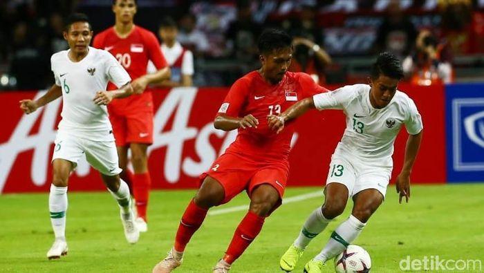 Indonesia kalah 0-1 dari Singapura di laga pertama Piala AFF 2018. (Foto: Pradita Utama)