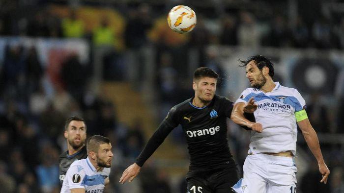 Lazio menang 2-1 atas Marseille dan lolos ke babak 32 besar Liga Europa (Foto: Marco Rosi/Getty Images)