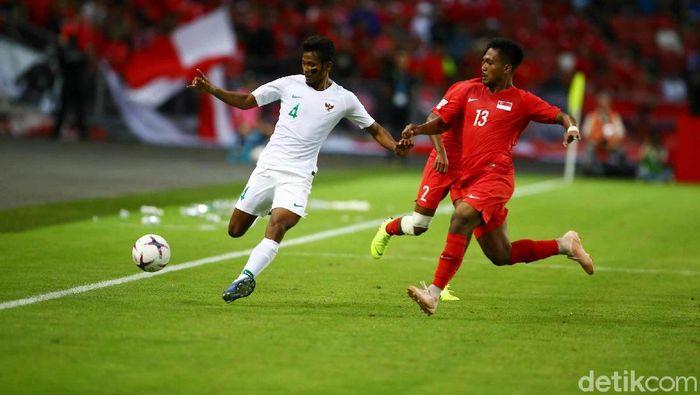 Indonesia kalah 0-1 dari Singapura di National Stadium. (Foto: Pradita Utama)