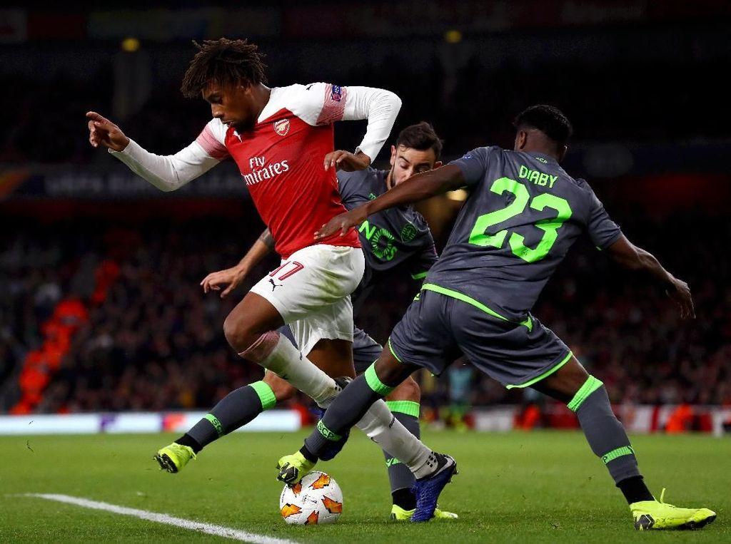 Arsenal Kesulitan Hadapi Sporting yang Rapat Banget