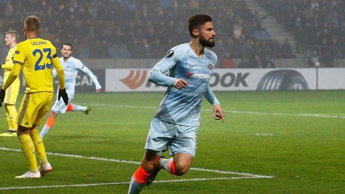 Olivier Giroud bikin gol lagi setelah nyaris tujuh bulan puasa (Vasily Fedosenko/Reuters)