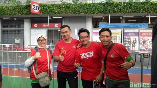 Suporter Indonesia Mulai Ramai di National Stadium
