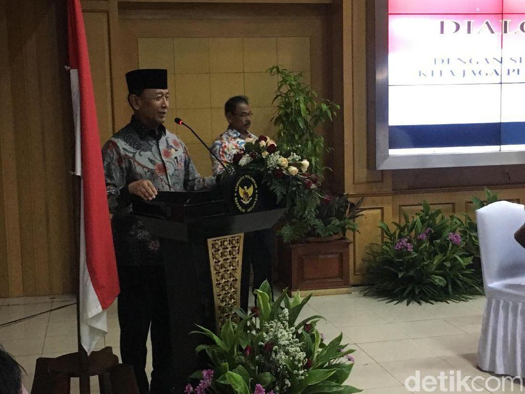 Bahas Pembakaran Bendera Tauhid, Wiranto Ajak Ormas Jaga Ukhuwah