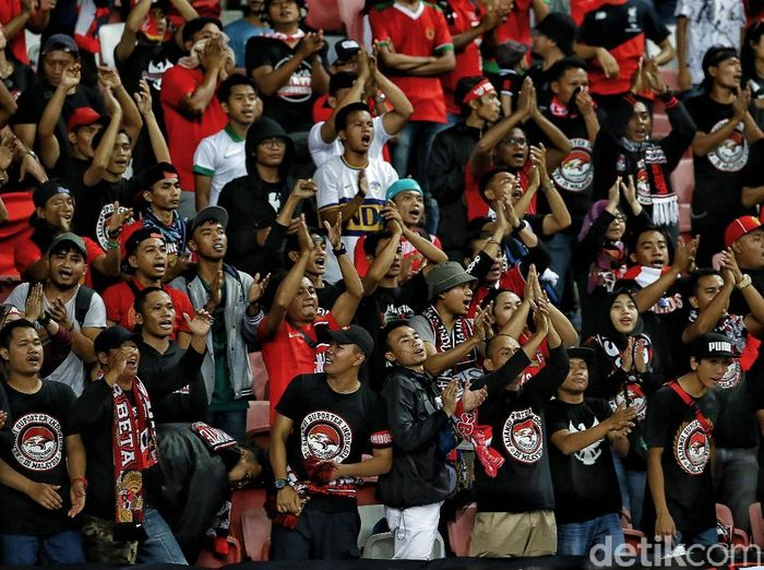 Ultras Garuda mengancam memboikot Kualifikasi Piala Asia U-19 2020. (Foto: Pradita Utama/detikcom)