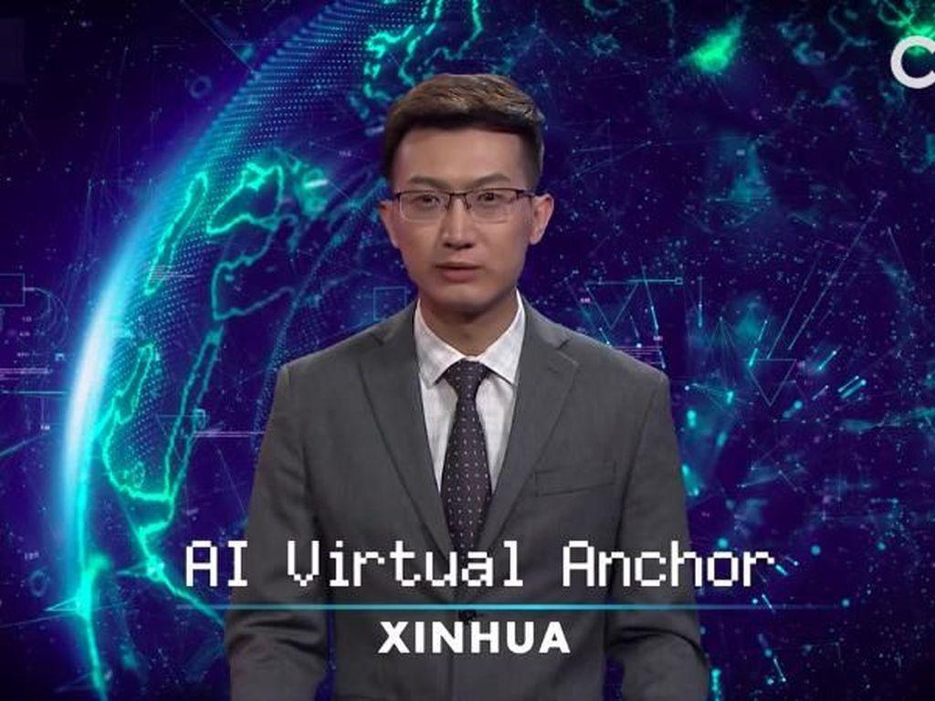 Canggih! China Pamerkan Penyiar Berita Virtual