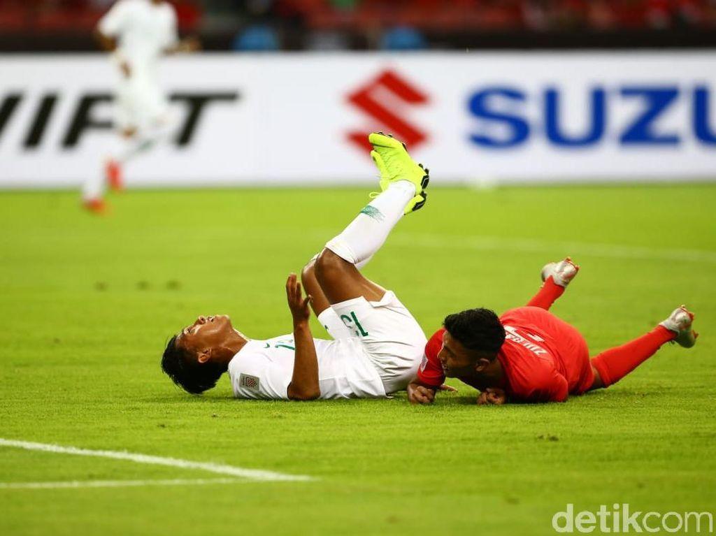 Babak I Singapura Vs Indonesia: Skuat Garuda Tertinggal 0-1